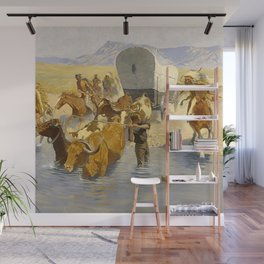 "Frederic Remington Western Art ""The Emigration"" Wall Mural"