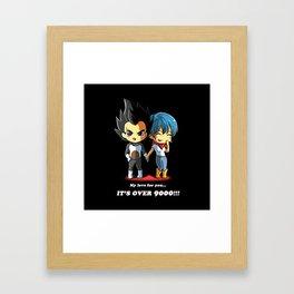 Vegeta with Bulma Framed Art Print