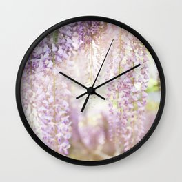 Caught the Light ... in Wisteria  //  The Botanical Series Wall Clock