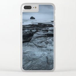 Gull Rock Seascape Clear iPhone Case