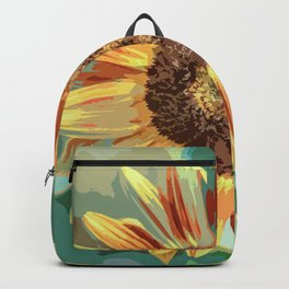 Beautiful Sunflower in Watercolor Backpack