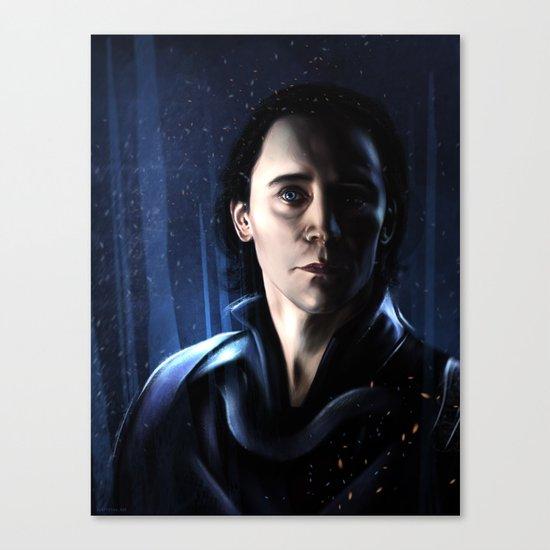 Loki in Jötunheimr Canvas Print