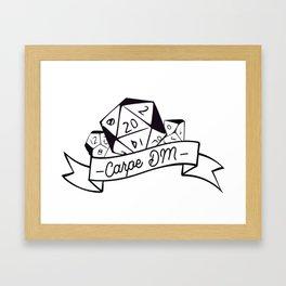 Carpe DM Framed Art Print