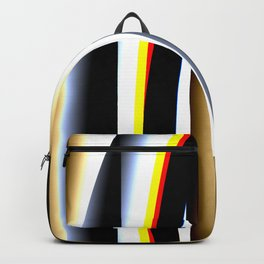 Abstract techno glitch Backpack