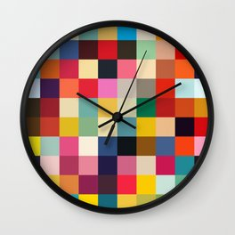 Kuula - Abstract Pixel Art Wall Clock