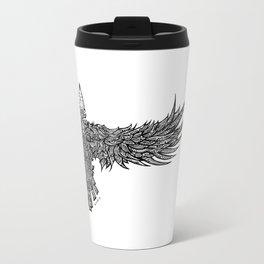 Ghost Raven Metal Travel Mug