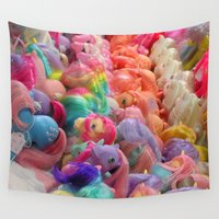 my little pony Wall Tapestries featuring My Little Pony horse traders by Pansy