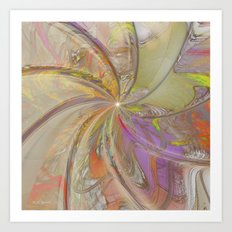 Multi Colored Pinwheel Art Print