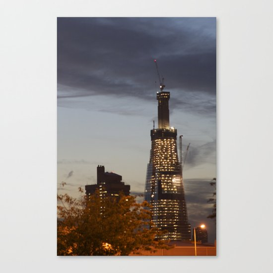 The Shard...the super fast growing skyscraper Canvas Print