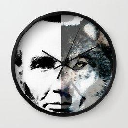 Political Debate - Abraham Lincoln Art by Sharon Cummings Wall Clock