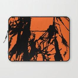 Orange Base black Laptop Sleeve