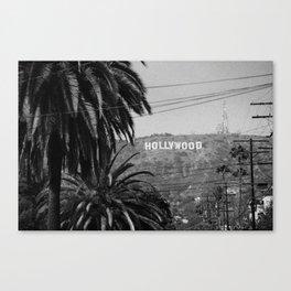 Hollywood Sign - Black and White Leinwanddruck