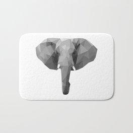 Polygonal elephant portrait Bath Mat