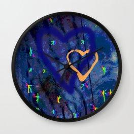 Star rainbow Wall Clock