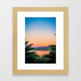 Between the Palms (Color) Framed Art Print