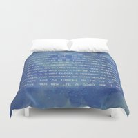 law Duvet Covers featuring the 1° law colors by Anabella Rodríguez