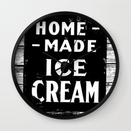 Home-made Ice Cream Vintage Sign Wall Clock