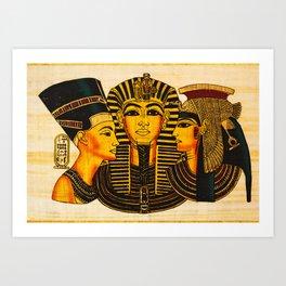 Egyptian Royalty Art Print