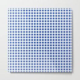 Grid Pattern 312 Blue Metal Print