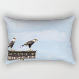Crested Cara Cara Hawks Rectangular Pillow