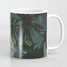 Tropical Palm Trees Night Star Sky Milky Way Carribean Night Sky Coffee Mug