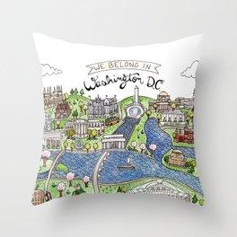 Washington DC Throw Pillow