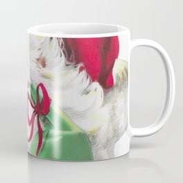 classic santa - vintage nostalgic American classic Christmas Coffee Mug