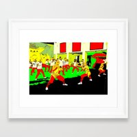 workout Framed Art Prints featuring Workout by lookiz