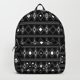 Black and white Art Deco. 23 Backpack
