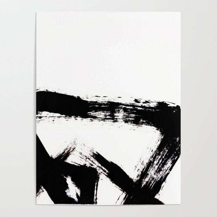 Brushstroke 8 a simple abstract black and white india ink piece