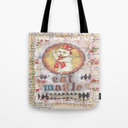 cat magic Tote Bag