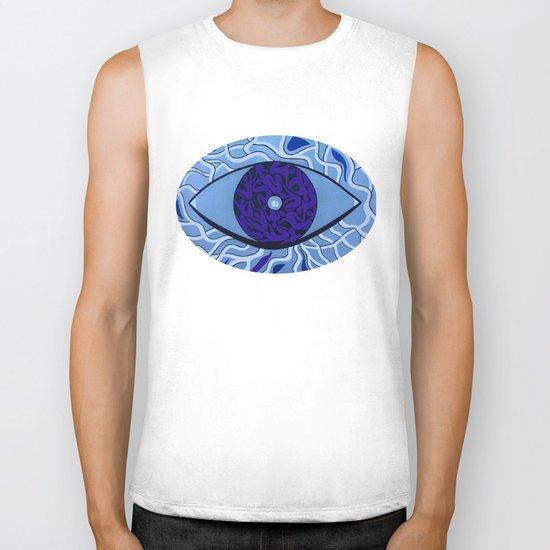 Human eye Biker Tank