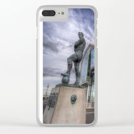 Bobby Moore Statue Wembley Stadium Clear iPhone Case