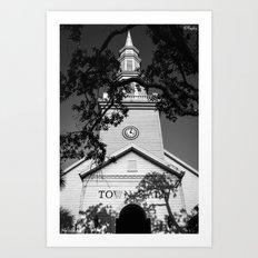 Ominous Town Hall Art Print