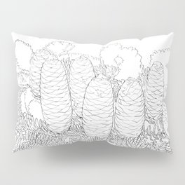 North American fir freehand Pillow Sham