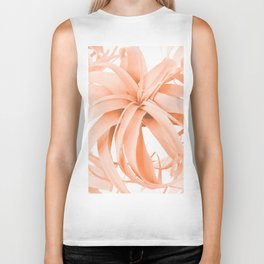 Coral Color Air Plant White Background #decor #society6 #buyart Biker Tank