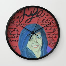 Life is...-Mother Theresa Wall Clock