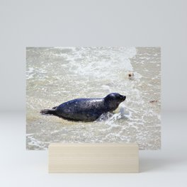 Seal in the Surf by Reay of Light Mini Art Print