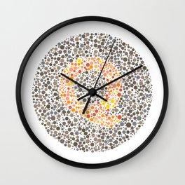 """Q"" Eye Test Letter Circle Wall Clock"