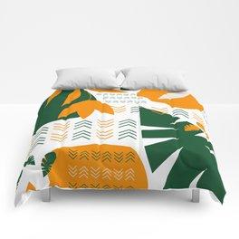 Abstract bohemian garden Comforters
