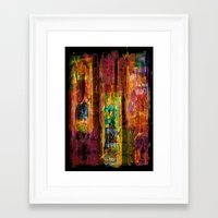 rio Framed Art Prints featuring Rio by FYLLAYTA, surface design,Tina Olsson