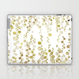 golden string of pearls watercolor Laptop & iPad Skin