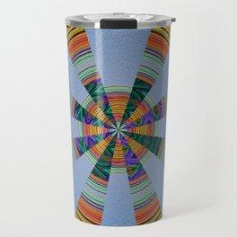 Sacred Sand Mandala Art Print Travel Mug