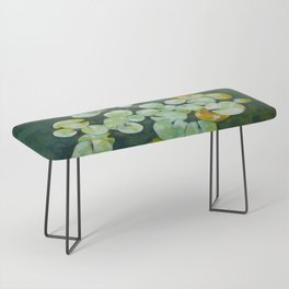 Tranquil lily pond Bench
