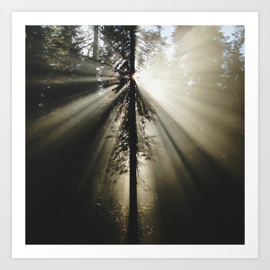 Umpqua Rays Art Print