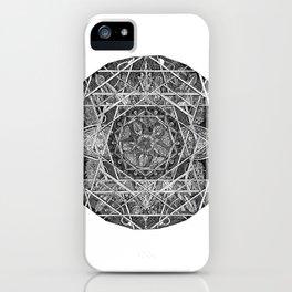 Milkweed Mandala iPhone Case