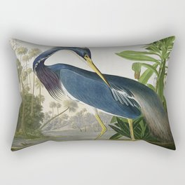 John James Audubon Louisiana Heron Painting Rectangular Pillow