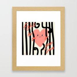 Free your love inspiring poster Framed Art Print