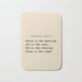 William Blake quote Bath Mat