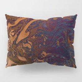 Orange Gradient Marble #marble #orange #blue #planet Pillow Sham